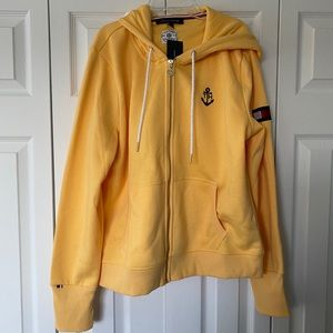 NWT Juniors Tommy Hilfiger Yellow Hoodie Size XL